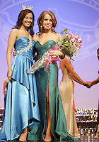 12 July, 2008:   Miss Pierce County Elizabeth Lamb-Ferro poses with 2007 Miss Washington winner Elsye Umemoto after placing second runner up the 2008 Miss Washington pageant at the Pantages Theater in Tacoma , Washington.
