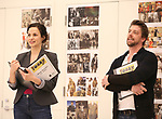 """Mandy Gonzalez and Christian Borle during the rehearsal for The Kennedy Center production of """"The Who's Tommy"""" at the New 42nd Street on April 11, 2019 in New York City."""
