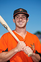 Frederick Keys Ryan McKenna (10) poses for a photo before the first game of a doubleheader against the Lynchburg Hillcats on June 12, 2018 at Nymeo Field at Harry Grove Stadium in Frederick, Maryland.  Frederick defeated Lynchburg 2-1.  (Mike Janes/Four Seam Images)