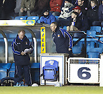 Kilmarnock manager Kenny Shiels still involved in directing operations after being sent to the stand