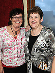 Betty Connor and Angela Bellew pictured at the Ceilí and set dancing weekend at An Grianan. Photo: Colin Bell/pressphotos.ie