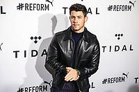 NOVA YORK, EUA, 23.10.2018 - CELEBRIDADES-EUA - Nick Jonas no tapete vermelho da 4º edição do Tidal X no Barclays Center no Brooklyn na cidade de Nova York nos Estados Unidos na noite desta terça-feira 23. (Foto: William Volcov/Brazil Photo Press)