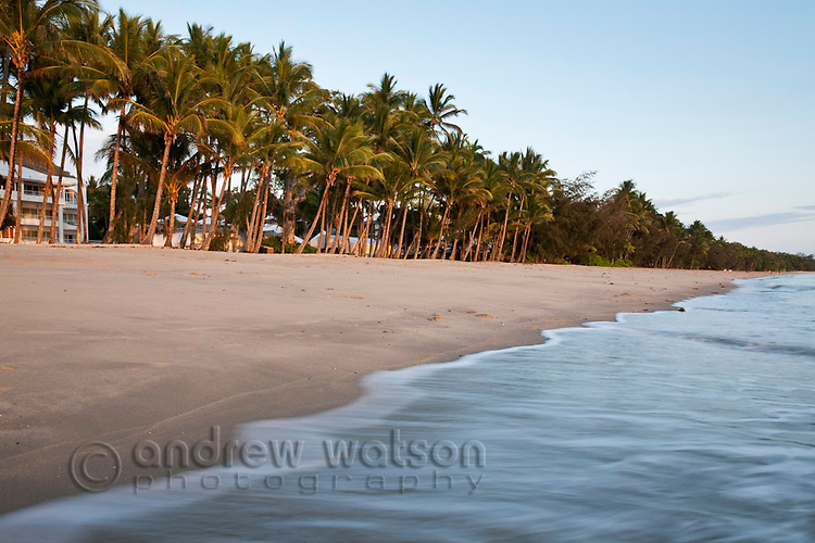 Palm Cove beach at dawn.  Palm Cove, Cairns, Queensland, Australia