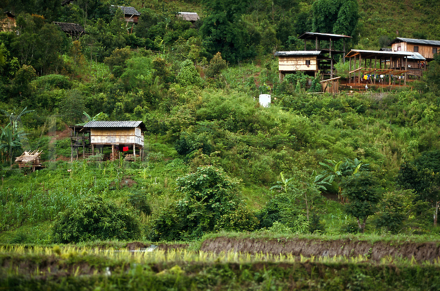 Typical homes in rural Thailand