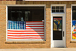 Ball of twine paintings by Cher Heller Olson--US flag & The Scream