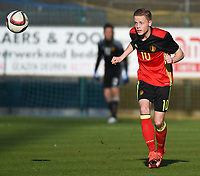 20170323 - BEVEREN , BELGIUM : Belgian Dante Rigo pictured during the UEFA Under 19 Elite round game between Sweden U19 and Belgium U19, on the first matchday in group 7 of the Uefa Under 19 elite round in Belgium , thursday 23 th March 2017 . PHOTO SPORTPIX.BE | DIRK VUYLSTEKE