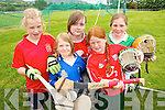 TOP TEAM: Young hurlers enjoying the Kerry VGAA VHI Cul Hurling Camp in Renard on Thursday last..Front L/r. Fiofra O'Shea (Renard), Andi Kelliher (Macroom)..Back L/r. Clodagh Quinlan (Renard), Aoife Crowe (Killarney) and Niamh Dillane (Tralee).   Copyright Kerry's Eye 2008