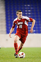 Buck Tufty (10) of the Louisville Cardinals. The Louisville Cardinals defeated the Notre Dame Fighting Irish 1-0 during the semi-finals of the Big East Men's Soccer Championship at Red Bull Arena in Harrison, NJ, on November 12, 2010.