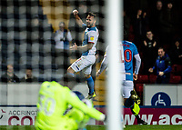 Blackburn Rovers' Bradley Dack (centre) celebrates scoring his side's first goal as team mate Danny Graham (right) looks on<br /> <br /> Photographer Andrew Kearns/CameraSport<br /> <br /> The EFL Sky Bet Championship - Blackburn Rovers v Nottingham Forest - Tuesday 1st October 2019  - Ewood Park - Blackburn<br /> <br /> World Copyright © 2019 CameraSport. All rights reserved. 43 Linden Ave. Countesthorpe. Leicester. England. LE8 5PG - Tel: +44 (0) 116 277 4147 - admin@camerasport.com - www.camerasport.com