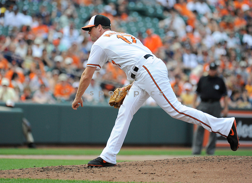 Baltimore Orioles Brian Matusz (17)  during a game against the Detroit Tigers on June 2, 2013 at Oriole Park in Baltimore, MD. The Orioles beat the Tigers 4-2.