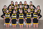 December 3, 2013- Tuscola, IL- The 2013-2014 Warrior Basketball Cheerleaders. Back row from left are Hannah Scribner, Allison Hemmer, Anna Martinez, Allison Murawski, and Olivia Christy. Middle row from left are Sidney Stuart, Mariah Lemay, Lily Hale, Ceci Rexroad, Kota Little, Jordan Ochs, and Madeline Clabaugh. Front row from left are Sophia Chrisy, Baylee Tackitt, Caylen Moyer, Miah Holmes, and Peyton Kresin. [Photo: Douglas Cottle]