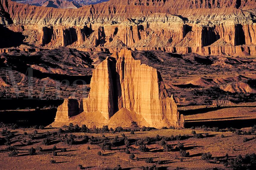 Summerville formation, Curtis Formation, Entrada sandstone formation, slickrock, wilderness, southern Utah, Colorado Plateau. Utah United States Capitol Reef National Park.