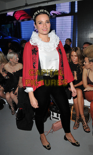 Gizzi Erskine attends the PPQ LFW s/s 2016 catwalk show, The Vinyl Factory, Marshall Street, London, England, UK, on Friday 18 September 2015. <br /> CAP/CAN<br /> &copy;Can Nguyen/Capital Pictures