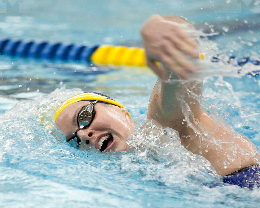The University of Michigan women's swimming and diving team beat Michigan State 171-120 at Canham Natatorium in Ann Arbor, Mich., on January 27, 2012..