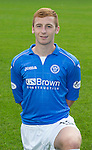 St Johnstone FC 2014-2015 Season Photocall..15.08.14<br /> Liam Caddis<br /> Picture by Graeme Hart.<br /> Copyright Perthshire Picture Agency<br /> Tel: 01738 623350  Mobile: 07990 594431
