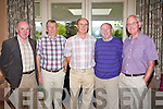 SOCIALISING: Members of the Garda Social Club enjoying the first Barbecue at Ballygarry House hotel last Wednesday night were l-r: Brendan McCarthy, Donie Morgan, Pat Crowe, Michael Griffin and Pat Joyce..