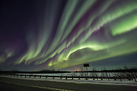 Northern lights over the Richardson Highway, Alaska's interior