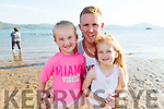 Enjoying 28 degrees in Fenit on on Thursday<br /> L to r: Darragh, Taylor and Eabha Healy.