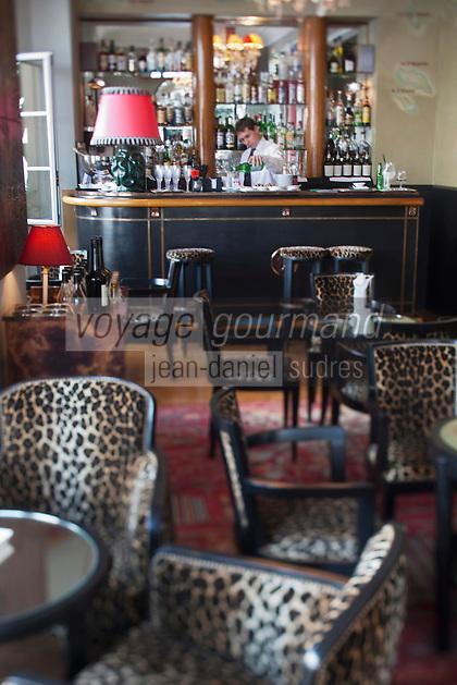 Europe/France/Provence-Alpes-Côte d'Azur/06/Alpes-Maritimes/Antibes/Juan-les-Pins: Hôtel Belle Rives- Le bar de l' Hôtel: Piano-bar Fitzgerald