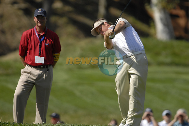 European Team member Graeme McDowell tees off on the 14th hole during Practice Day1 of the 37th Ryder Cup at Valhalla Golf Club, Louisville, Kentucky, USA, 17th September 2008 (Photo by Eoin Clarke/GOLFFILE)
