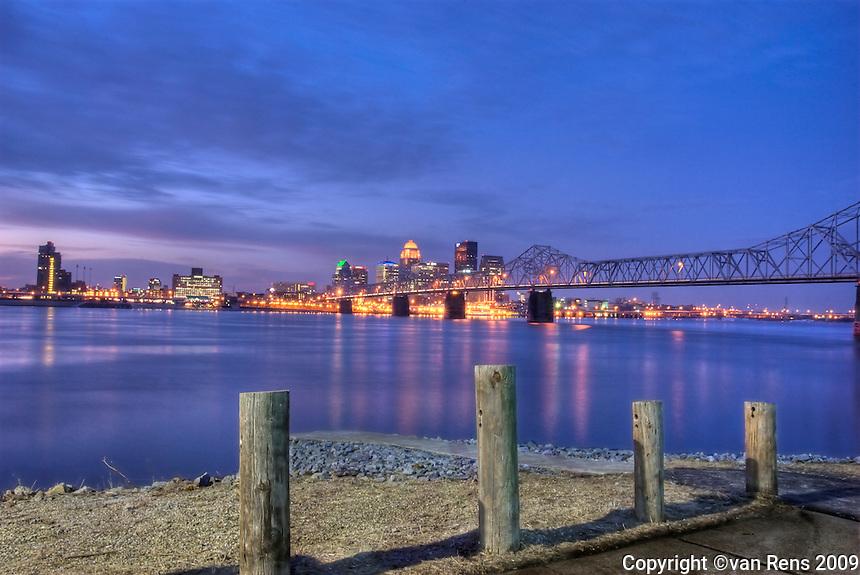Louisville Sunrise from Jeffersonville , IN.