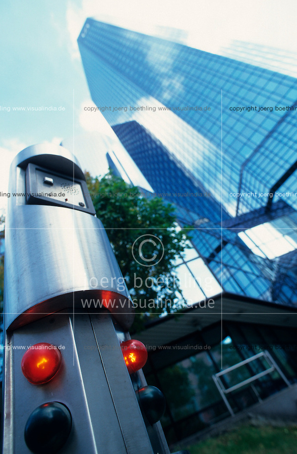 GERMANY, Frankfurt, office tower Headquarter Deutsche Bank