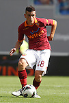 Calcio, Serie A: Roma-Bologna. Roma, stadio Olimpico, 16 settembre 2012..AS Roma midfielder Alessandro Florenzi in action after scoring during the Italian Serie A football match between AS Roma and Bologna, at Rome, Olympic stadium, 16 September 2012. .UPDATE IMAGES PRESS/Isabella Bonotto