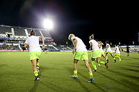 Cary, North Carolina  - Saturday July 08, 2017: Seattle Reign FC during warmups prior to a regular season National Women's Soccer League (NWSL) match between the North Carolina Courage and the Seattle Reign FC at Sahlen's Stadium at WakeMed Soccer Park. North Carolina won the game 2-0.