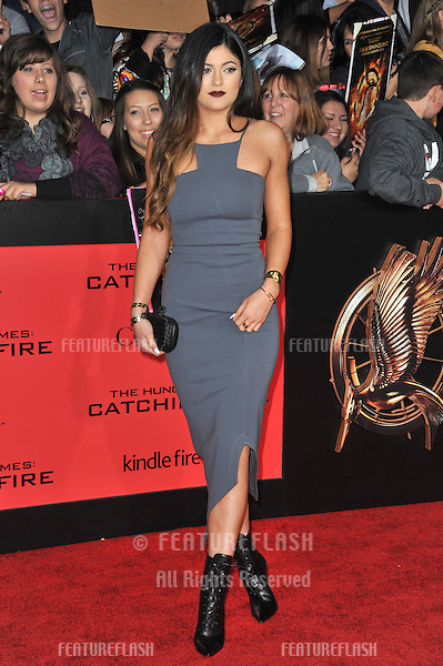 Kylie Jenner at the US premiere of &quot;The Hunger Games: Catching Fire&quot; at the Nokia Theatre LA Live.<br /> November 18, 2013  Los Angeles, CA<br /> Picture: Paul Smith / Featureflash