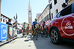 The start of Stage 14 of the 2018 Giro d'Italia, running 186km from San Vito al Tagliamento to Monte Zoncolan features Europe's hardest climb, Italy. 19th May 2018.<br /> Picture: LaPresse/Gian Mattia D'Alberto | Cyclefile<br /> <br /> <br /> All photos usage must carry mandatory copyright credit (&copy; Cyclefile | LaPresse/Gian Mattia D'Alberto)