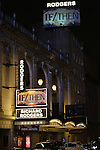 Theatre Marquee during the Broadway Opening Night Performance curtain call for  'IF/THEN' at the Richard Rodgers Theatre on March 30, 2014 in New York City.