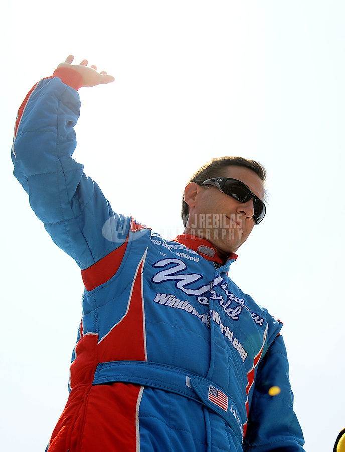 May 30, 2010; Indianapolis, IN, USA; IndyCar Series driver John Andretti during the Indianapolis 500 at the Indianapolis Motor Speedway. Mandatory Credit: Mark J. Rebilas-