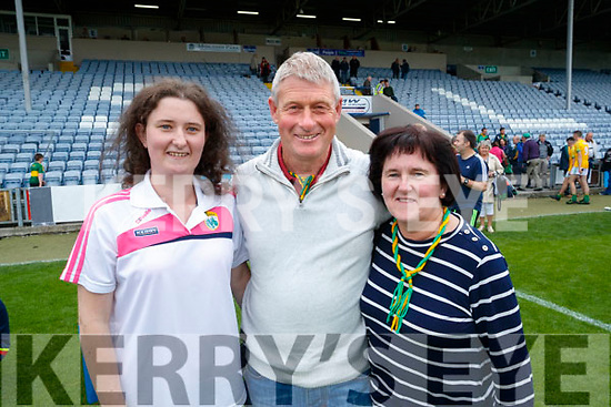Claire, John and Marie Sugrue, Renard  after Kerry won the Junior all Ireland in Portlaoise on Saturday.
