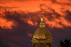 Sept. 29, 2015; Dome at sunset (Photo by Matt Cashore/University of Notre Dame)