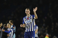 Dan Burn of Brighton & Hove Albion waves to the fans at the end of the match during Brighton & Hove Albion vs Norwich City, Premier League Football at the American Express Community Stadium on 2nd November 2019