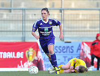 Waasland Beveren Sinaai Girls - RSC Anderlecht : Laurence Marchal.foto DAVID CATRY / Nikonpro.be