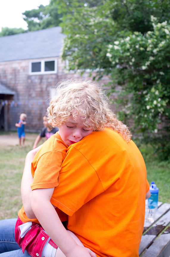 Bass crying after Holland´s loss during the worldcup match against Argentina. The Barn. Bridgehampton, New York 2014
