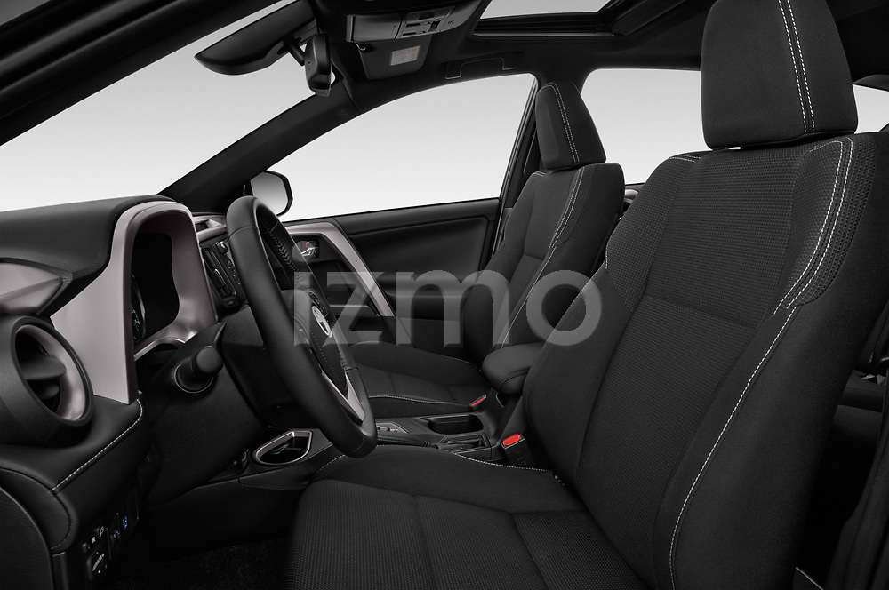Front seat view of a 2018 Toyota RAV4 Black edition Hybride 5 Door SUV front seat car photos