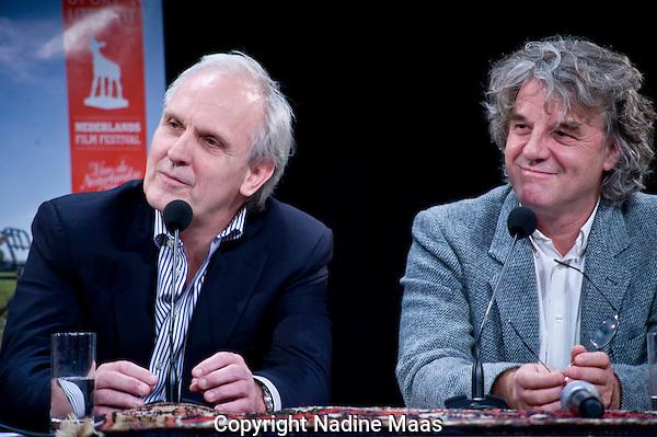 Utrecht, 28 september 2010.Nederlands Film Festival.Talkshow Claudia de Breij .Pieter Broertjes en Michel Schöpping.Foto: Nadine Maas