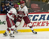 Jake Horton (Harvard - 19), Andrew Gans (Yale - 11), Wiley Sherman (Harvard - 25) - The Harvard University Crimson tied the visiting Yale University Bulldogs 1-1 on Saturday, January 21, 2017, at the Bright-Landry Hockey Center in Boston, Massachusetts.