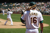 OAKLAND, CA - MAY 10: Jason Giambi of the Oakland Athletics waits in the on deck circle against the Toronto Blue Jays during the game at the Oakland-Alameda County Coliseum on May 10, 2009 in Oakland, California. Photo by Brad Mangin