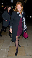 Princess Eugenie and Sarah Ferguson enjoyed a night out together at Lou Lou's club, London, UK. 13/11/2012.<br />