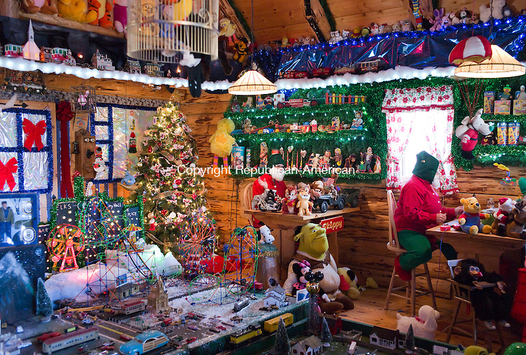 Torrington, CT- 06 December 2015-120615CM11-  Elves prepare toys inside the toy shop at the Christmas Village in Torrington on Sunday.    Christopher Massa Republican-American