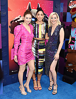 WESTWOOD, CA - FEBRUARY 02: (L-R) Alison Brie, Stephanie Beatriz and Elizabeth Banks attend the Premiere Of Warner Bros. Pictures' 'The Lego Movie 2: The Second Part' at Regency Village Theatre on February 2, 2019 in Westwood, California.<br /> CAP/ROT/TM<br /> ©TM/ROT/Capital Pictures