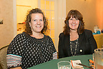 Naugatuck, CT- 05 October 2017-100517CM10-  From left,  Michele Miller and Kelly Healy with Ion Bank are photographed during an Oktoberfest fundraiser, to benefit the Whittemore Library at the Crystal Room in Naugatuck on Thursday.  Christopher Massa Republican-American