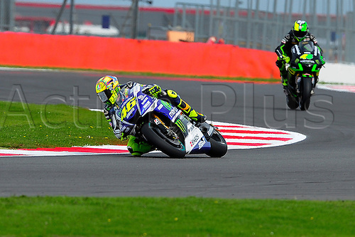 30.08.2014.  Silverstone, England. MotoGP. British Grand Prix. Valentino Rossi (Movistar Yamaha Team) during the qualifying sessions.