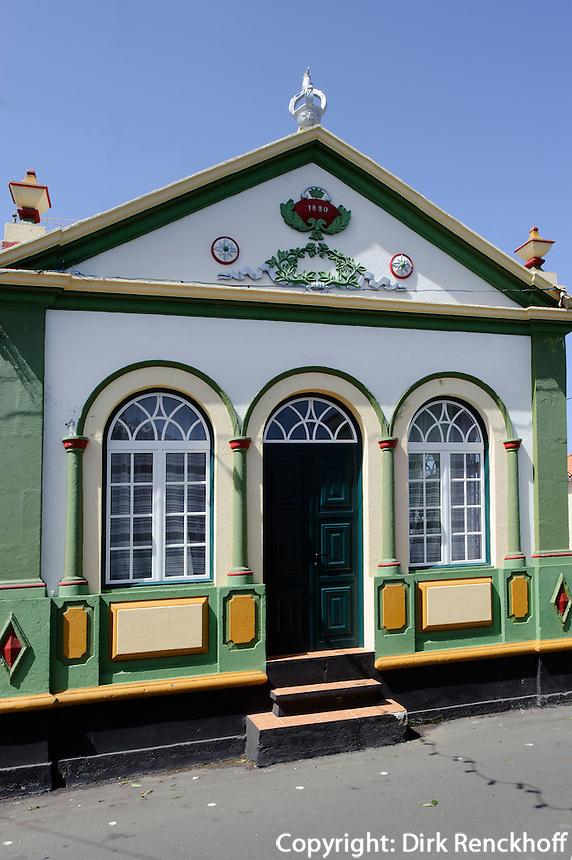 Heiliggeisttempel (Imperio)  in Raminho auf der Insel Terceira, Azoren, Portugal