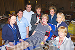 Mary O'Connor Killarney who was honoured in the Malon Hotel on Wednesday after she made her one hundred donation of blood l-r: Finola Shanahan Clinical Nurse Manager, Bernice Bushe, John O'Connor, Ann O'Donovan Donor Recruitment Manager, Jane Askins, Rosemary O'Keeffe and Breeda O'Connell