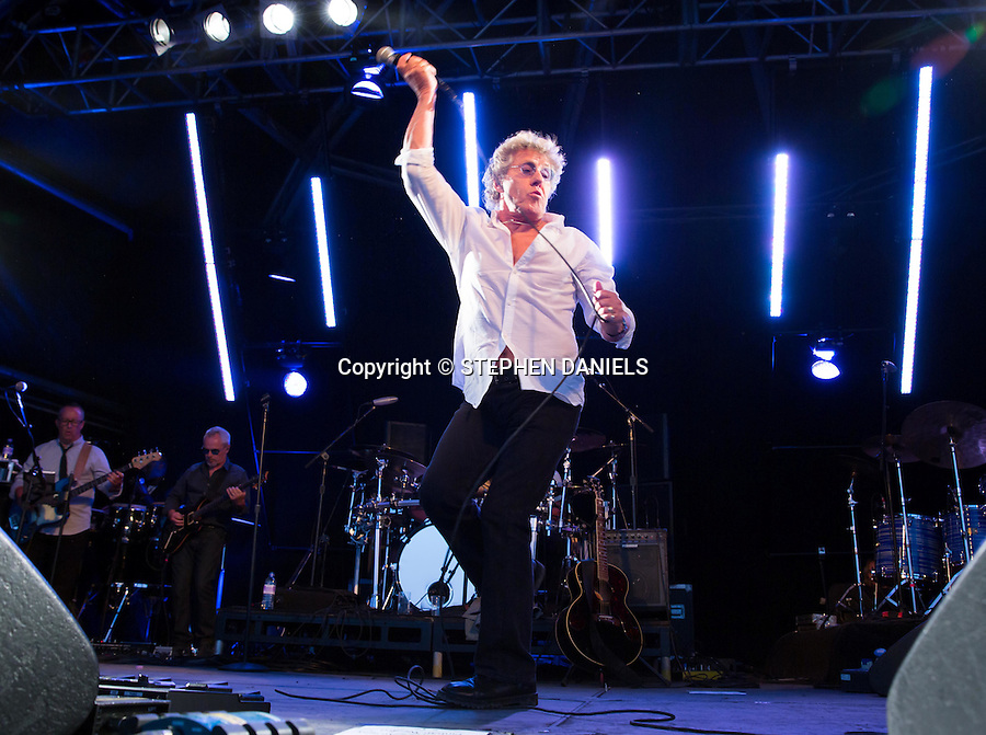 Photo by &copy; Stephen Daniels 14/06/2014 <br /> Kenney Jones, Roger Daultrey and Pete Townsend playing again in aid of Prosstate Cancer which Kenney recovered from, at Hurtwood Park Polo Club, Ewhurst, Surrey