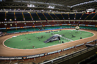 General view of the inside of the Principality Stadium ahead of the 2016 Adrian Flux British FIM Speedway Grand Prix at Principality Stadium, Cardiff, Wales  on 9 July 2016. Photo by David Horn.